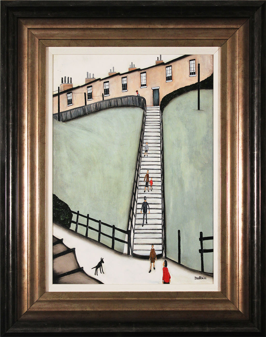 Sean Durkin, Original oil painting on panel, Thirty Eight Steps. Click to enlarge