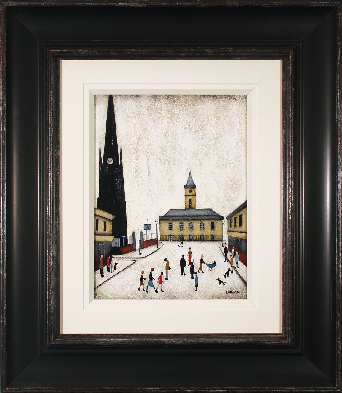 Sean Durkin, Original oil painting on panel, Return to St Hilda's, click to enlarge