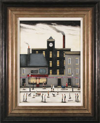 Sean Durkin, Original oil painting on panel, Beyond the Factory