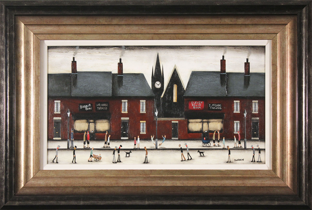 Sean Durkin, Original oil painting on panel, Tales of the High Street, click to enlarge