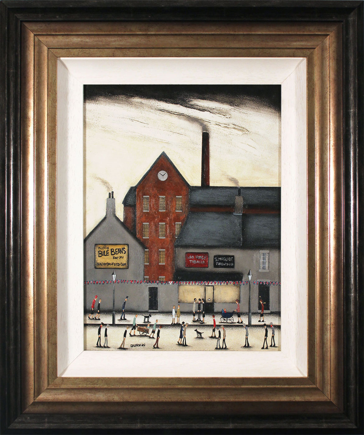 Sean Durkin, Original oil painting on panel, McGlade Firewood , click to enlarge