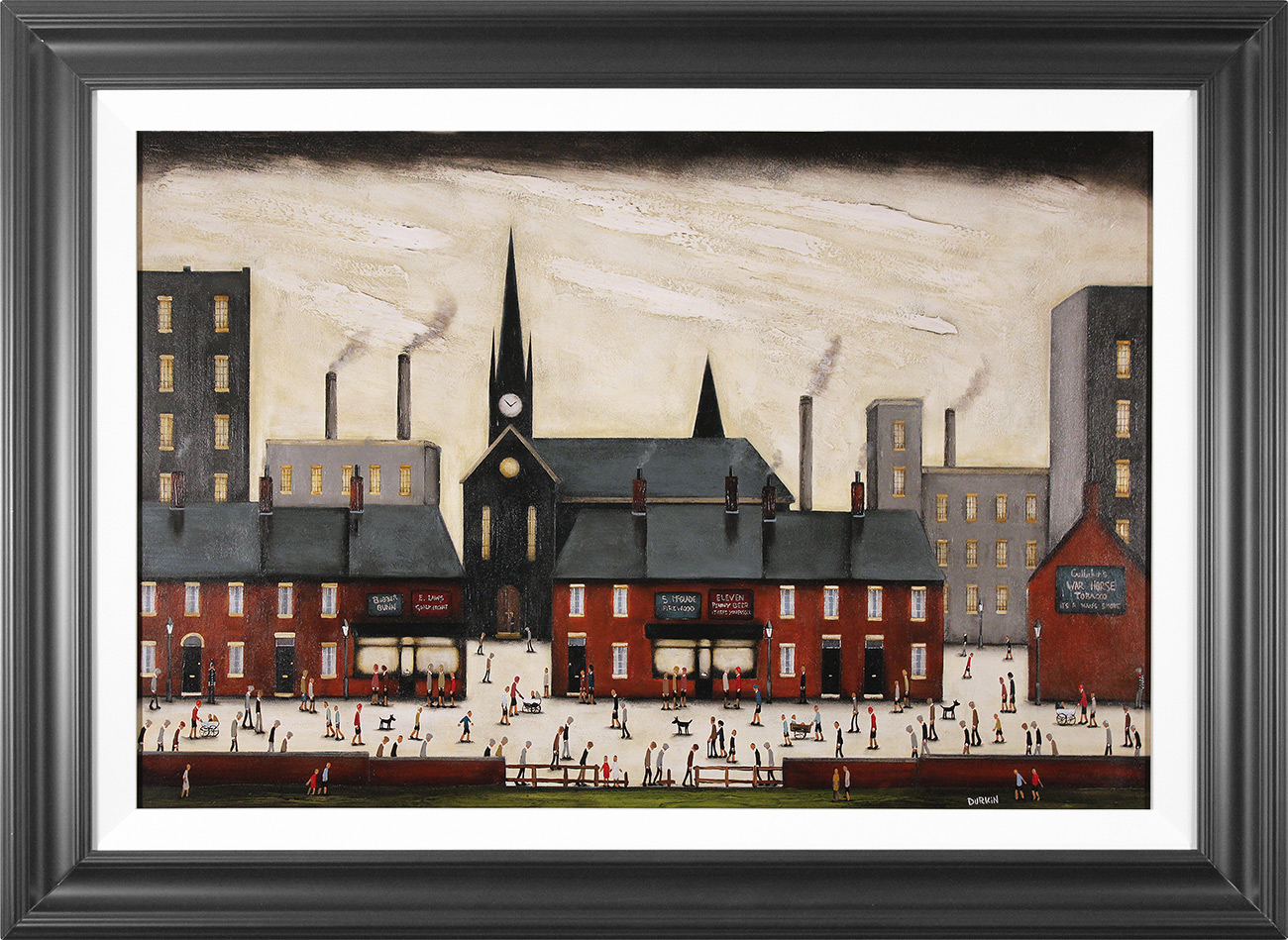 Sean Durkin, Original oil painting on panel, Tales of the Town, click to enlarge