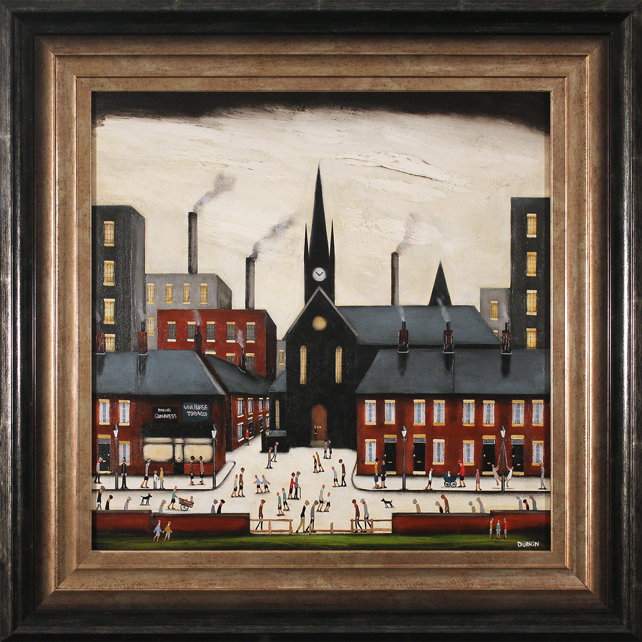 Sean Durkin, Original oil painting on panel, Stories from the Square, click to enlarge