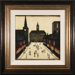 Sean Durkin, Original oil painting on panel, Tales from the Town Centre