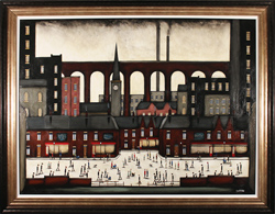Sean Durkin, Original oil painting on panel, A Tale of Industry