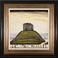 Sean Durkin, Original oil painting on panel, Clifford's Tower, York
