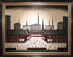 Sean Durkin, Original oil painting on panel, Tales from the Square
