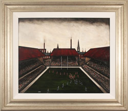 Sean Durkin, Original oil painting on panel, Now to the Touchline