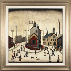 Sean Durkin, Original oil painting on panel, Streets of Industry