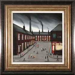 Sean Durkin, Original oil painting on panel, Smokestack Symphony Large image. Click to enlarge