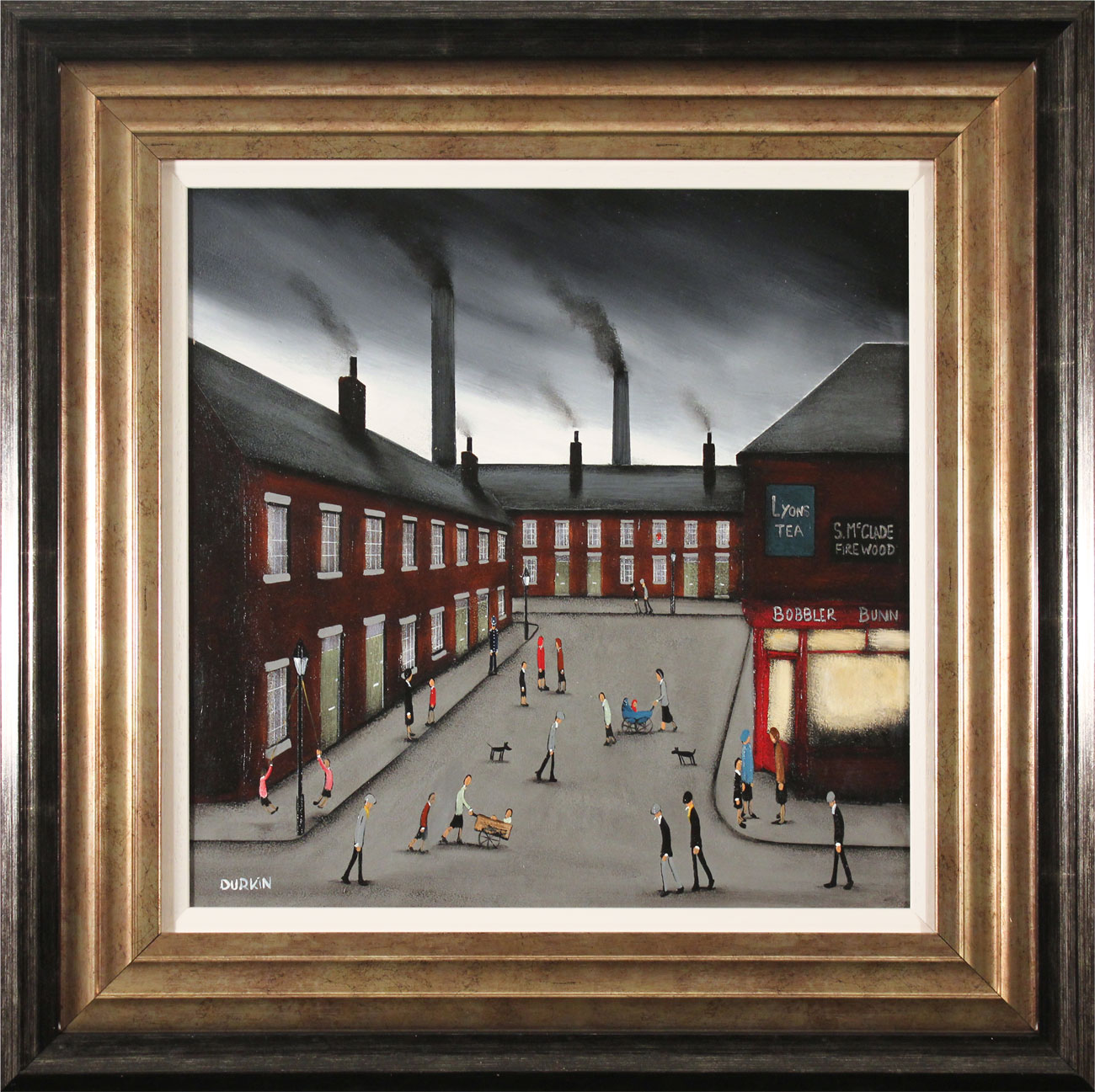 Sean Durkin, Original oil painting on panel, Smokestack Symphony. Click to enlarge