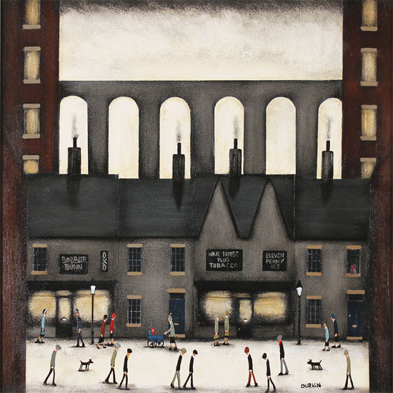 Sean Durkin, Original oil painting on panel, The Four Chimneys Without frame image. Click to enlarge