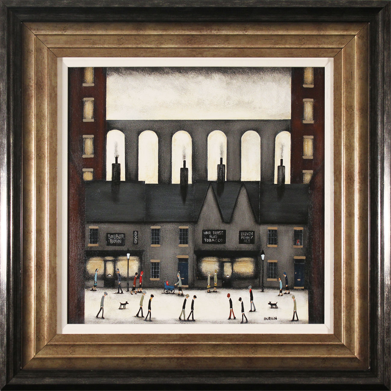 Sean Durkin, Original oil painting on panel, The Four Chimneys. Click to enlarge