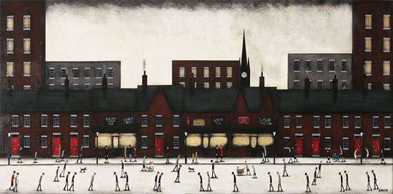 Sean Durkin, Original oil painting on panel, Tales of the Town Without frame image. Click to enlarge