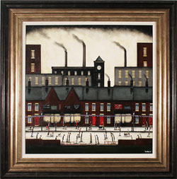 Sean Durkin, Original oil painting on panel, Northern Industry