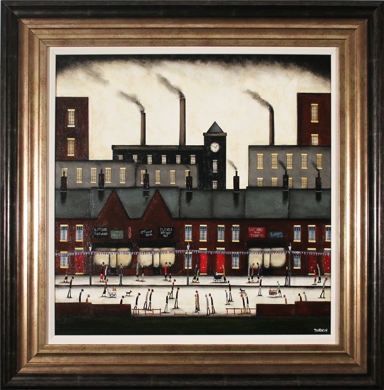 Sean Durkin, Original oil painting on panel, Northern Industry. Click to enlarge