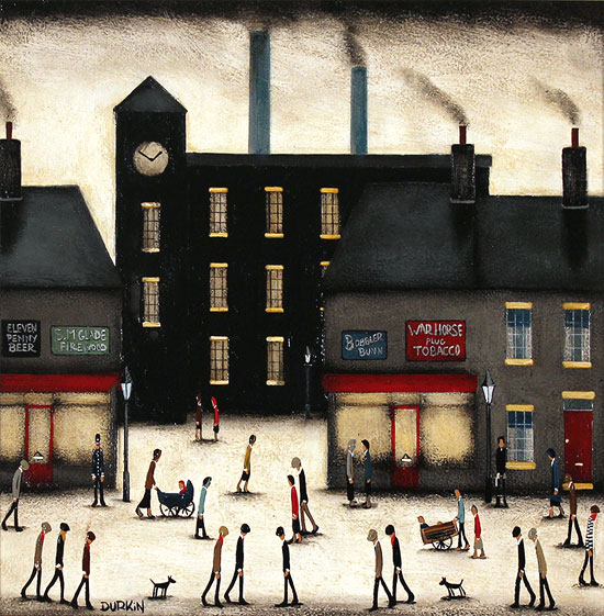 Sean Durkin, Original oil painting on panel, The Old Factory No frame image. Click to enlarge