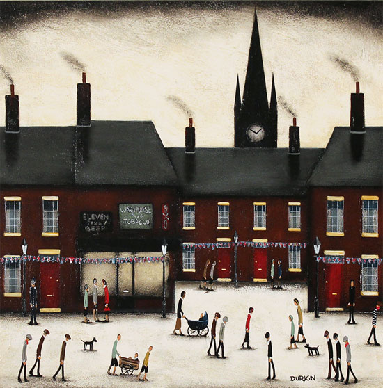 Sean Durkin, Original oil painting on panel, Familiar Streets Without frame image. Click to enlarge