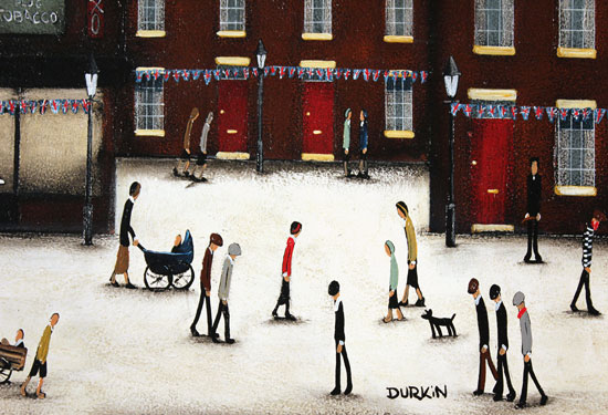 Sean Durkin, Original oil painting on panel, Familiar Streets Signature image. Click to enlarge