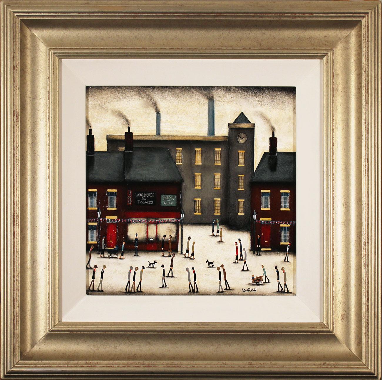 Sean Durkin, Original oil painting on panel, Factory Corner. Click to enlarge