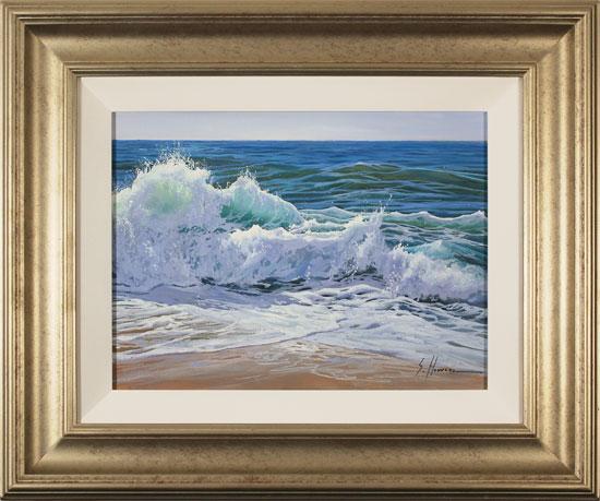 Sergio Herrero, Original oil painting on panel, Crashing Tides