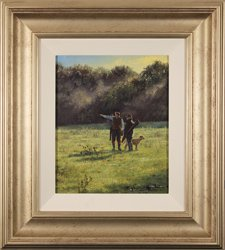 Stephen Hawkins, Original oil painting on panel, The Gamekeepers Large image. Click to enlarge