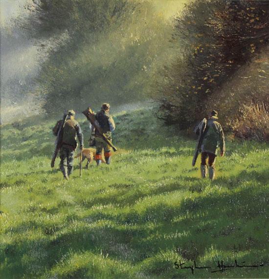 Stephen Hawkins, Original oil painting on panel, Early Morning Light