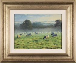 Stephen Hawkins, Original oil painting on canvas, Morning Pasture
