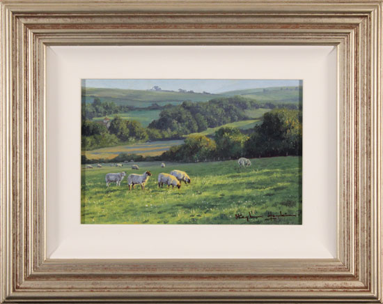 Stephen Hawkins, Original oil painting on panel, Afternoon Grazing