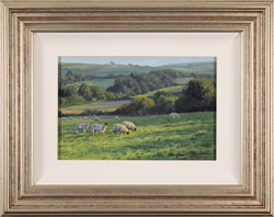 Stephen Hawkins, Afternoon Grazing, Original oil painting on panel