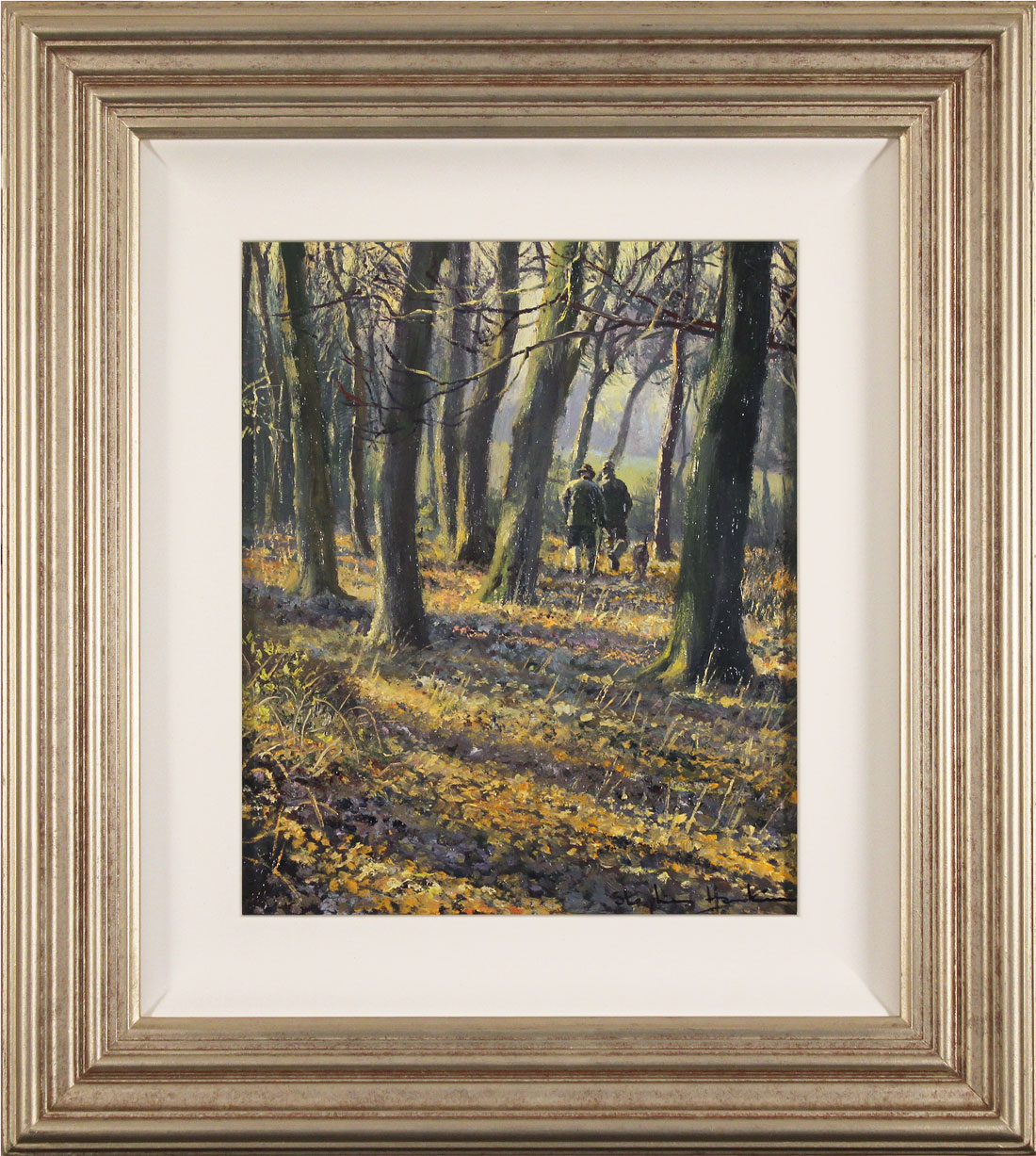 Stephen Hawkins, Original oil painting on panel, Brisk Autumn Walk . Click to enlarge