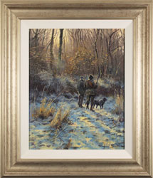 Stephen Hawkins, Original oil painting on canvas, A Fading Winter's Day