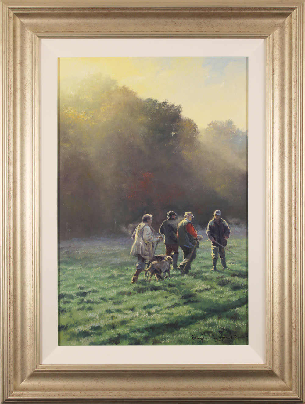Stephen Hawkins, Original oil painting on canvas, An Early Start, click to enlarge