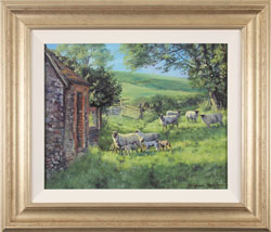 Stephen Hawkins, Spring Pasture, Original oil painting on canvas