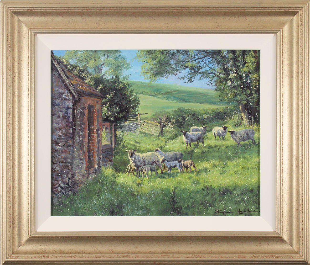Stephen Hawkins, Original oil painting on canvas, Spring Pasture. Click to enlarge