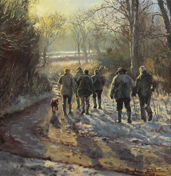 Stephen Hawkins, Original oil painting on canvas, Light on a Country Lane No frame image. Click to enlarge