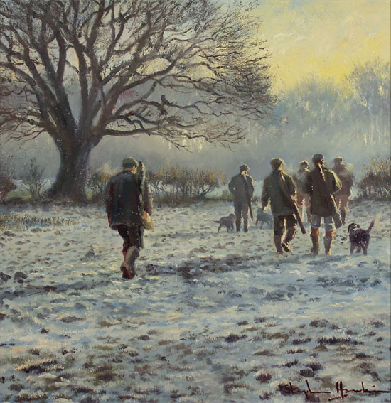 Stephen Hawkins, Original oil painting on canvas, Winter Morning, North Yorkshire Without frame image. Click to enlarge