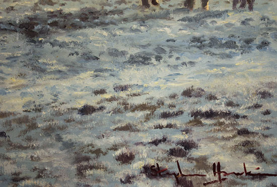 Stephen Hawkins, Original oil painting on canvas, Winter Morning, North Yorkshire Signature image. Click to enlarge