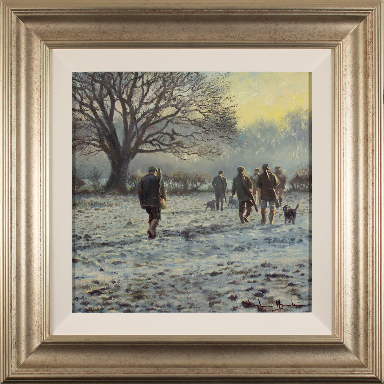 Stephen Hawkins, Original oil painting on canvas, Winter Morning, North Yorkshire. Click to enlarge