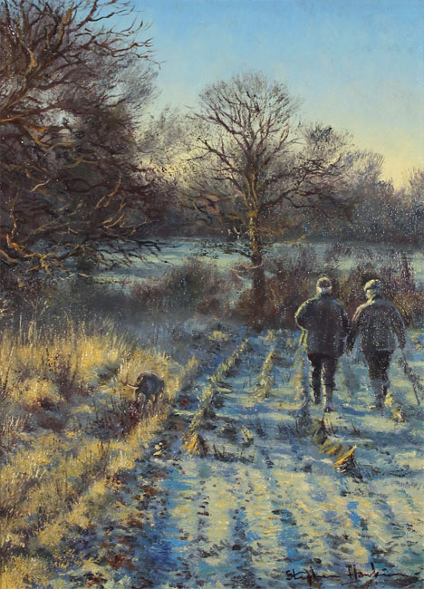 Stephen Hawkins, Original oil painting on canvas, First Frost Without frame image. Click to enlarge