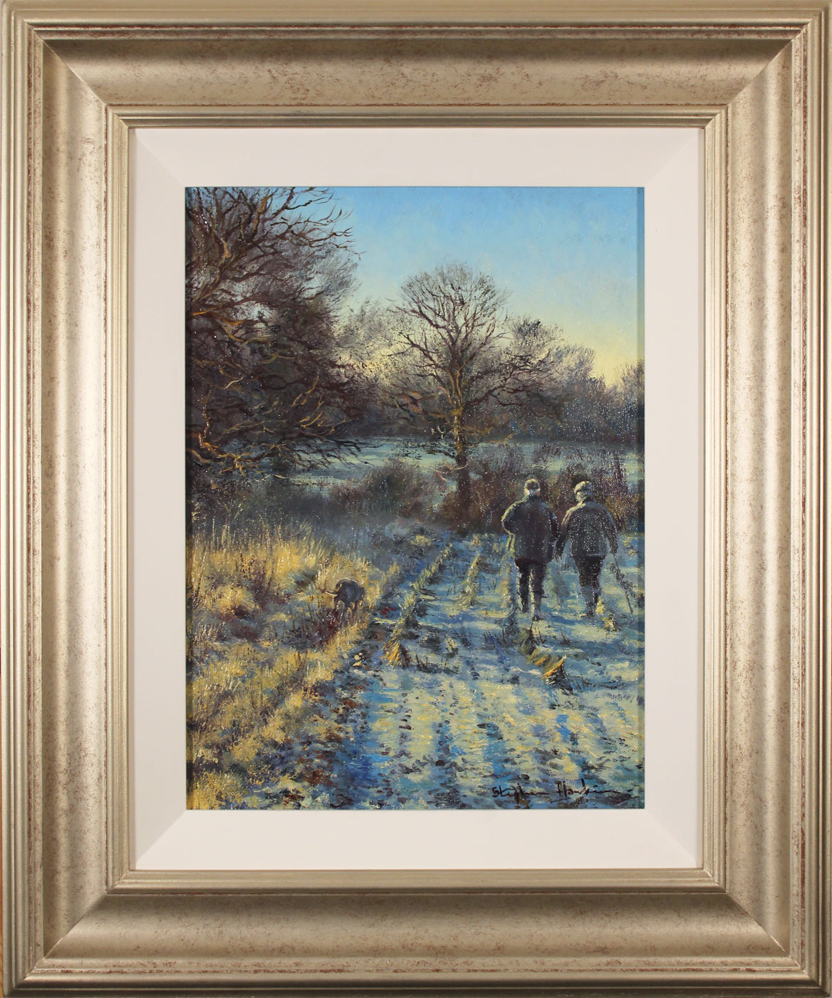 Stephen Hawkins, Original oil painting on canvas, First Frost. Click to enlarge