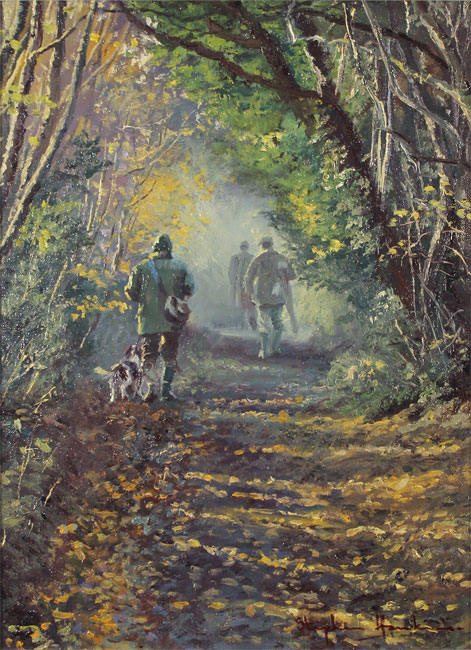 Stephen Hawkins, Original oil painting on canvas, Woodland Way Without frame image. Click to enlarge