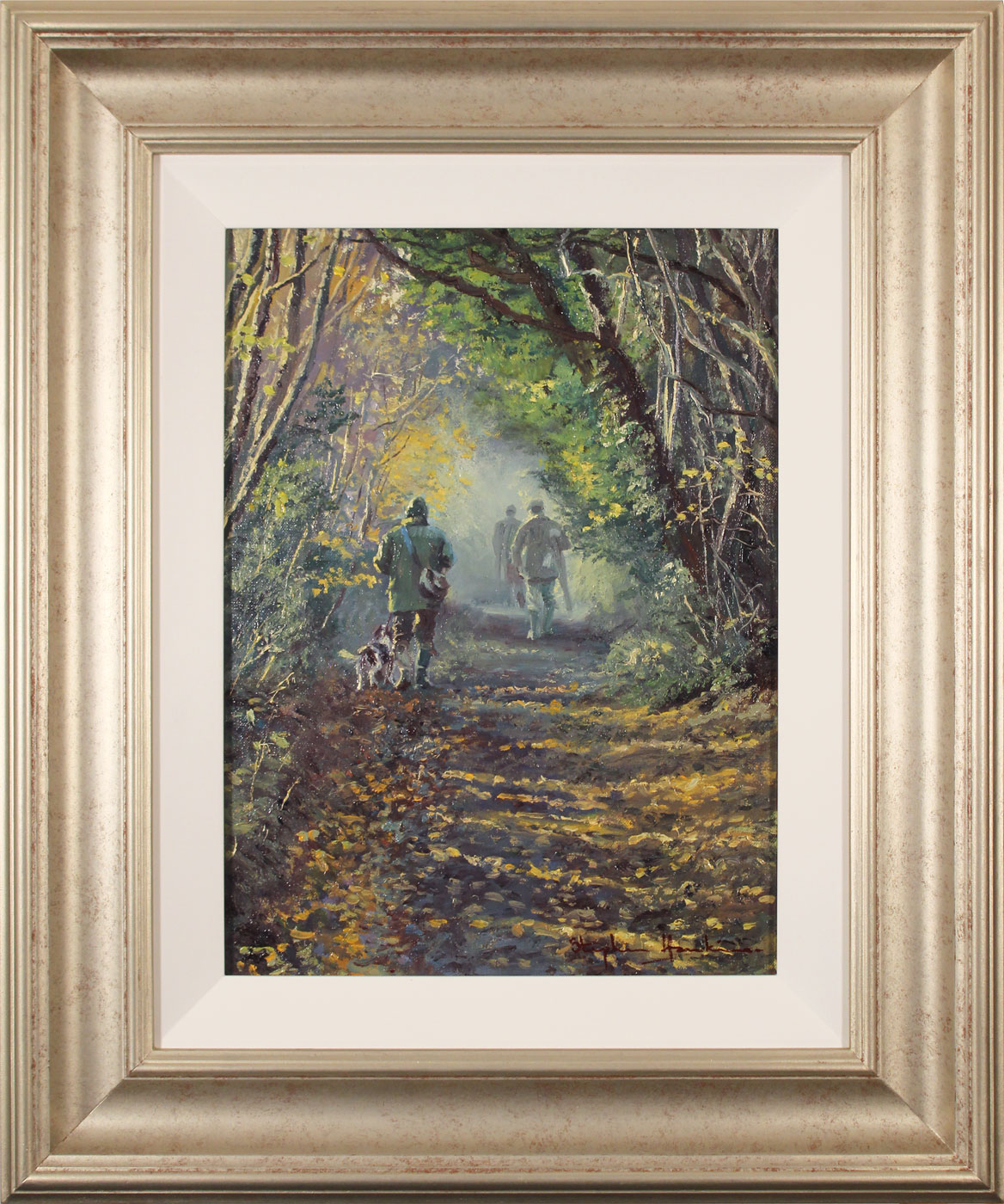 Stephen Hawkins, Original oil painting on canvas, Woodland Way. Click to enlarge