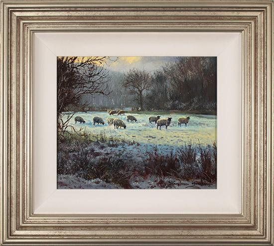 Stephen Hawkins, Original oil painting on panel, Morning Flock