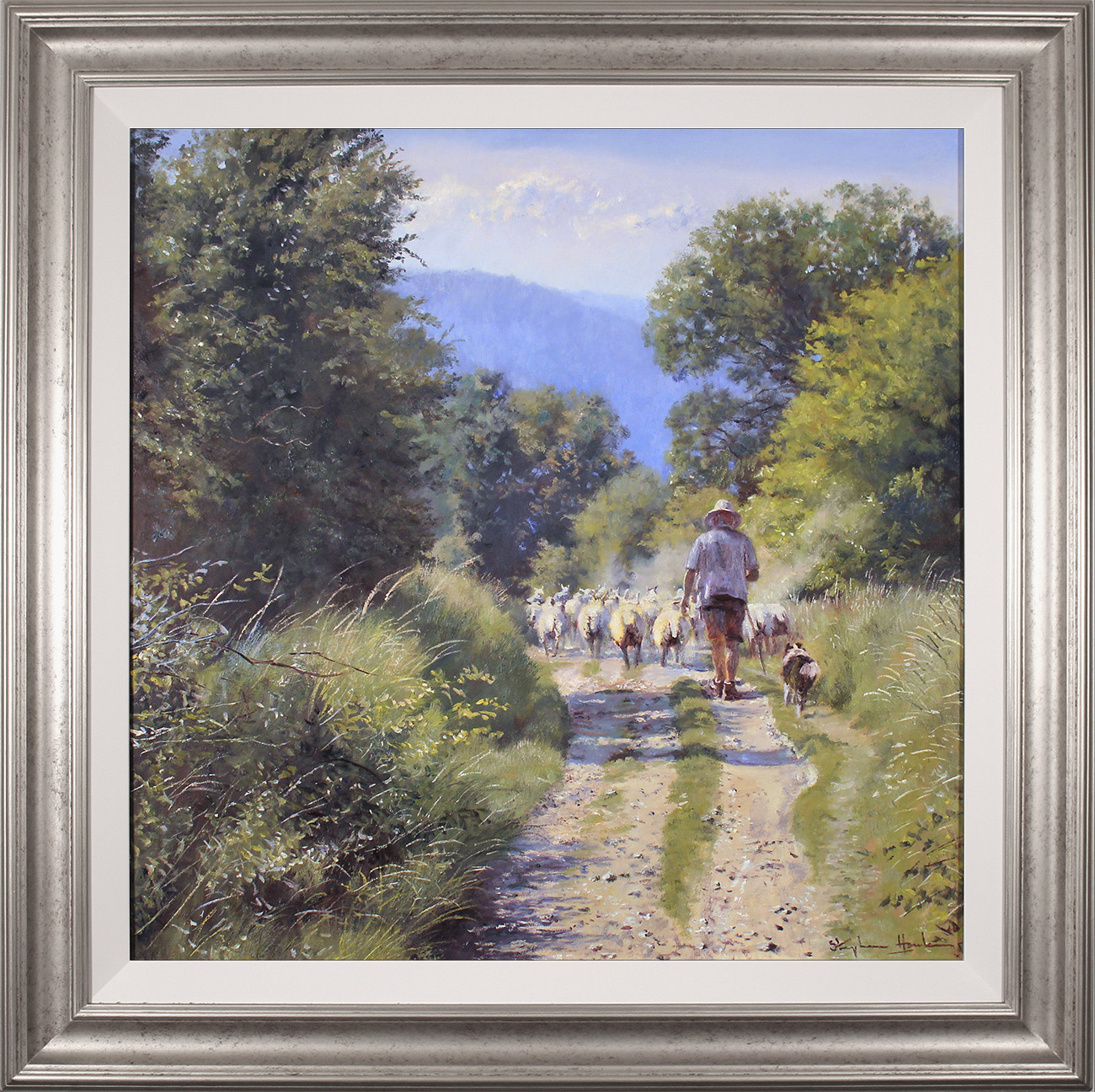Stephen Hawkins, Original oil painting on canvas, The Summer Flock, click to enlarge
