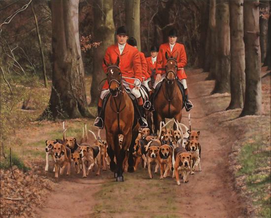 Stephen Park, Original oil painting on panel, The Hunt