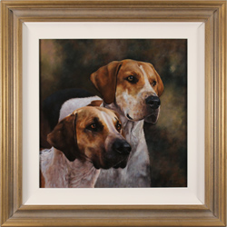 Stephen Park, Hounds, Original oil painting on panel