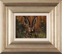 Stephen Park, Original oil painting on panel, Hare Large image. Click to enlarge