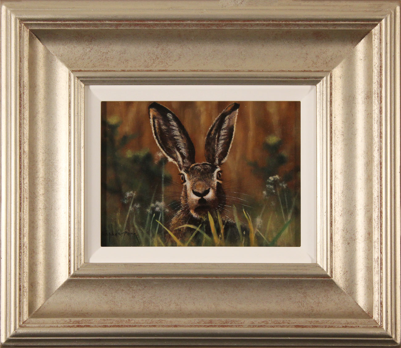 Stephen Park, Original oil painting on panel, Hare. Click to enlarge
