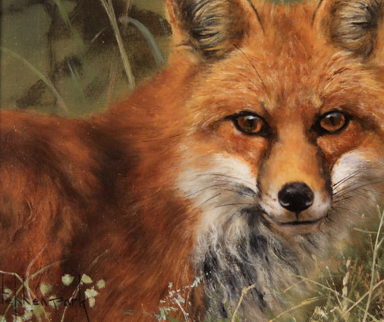 Stephen Park, Original oil painting on panel, Fox Signature image. Click to enlarge